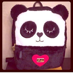 🆕 😆HP🙃 🐼Betsey Johnson Panda Bear Backpack🐼
